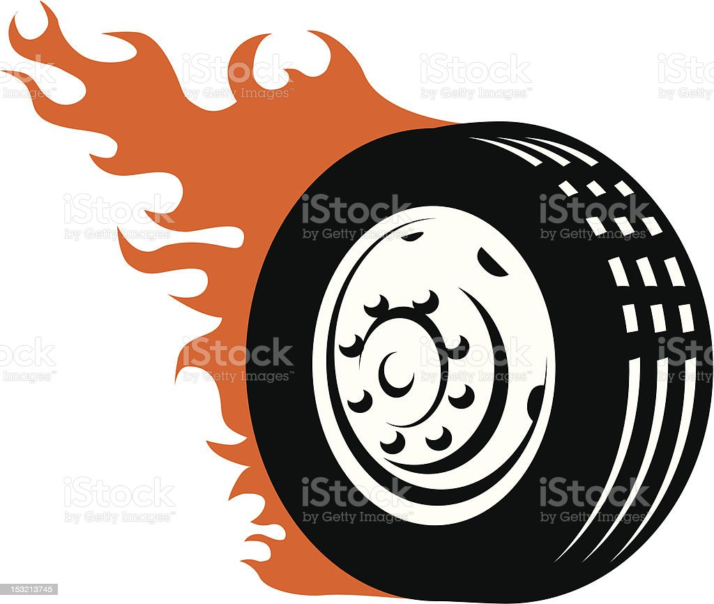 Fiery Racing Tire Stock Vector Art  for Racing Tire Vector  177nar