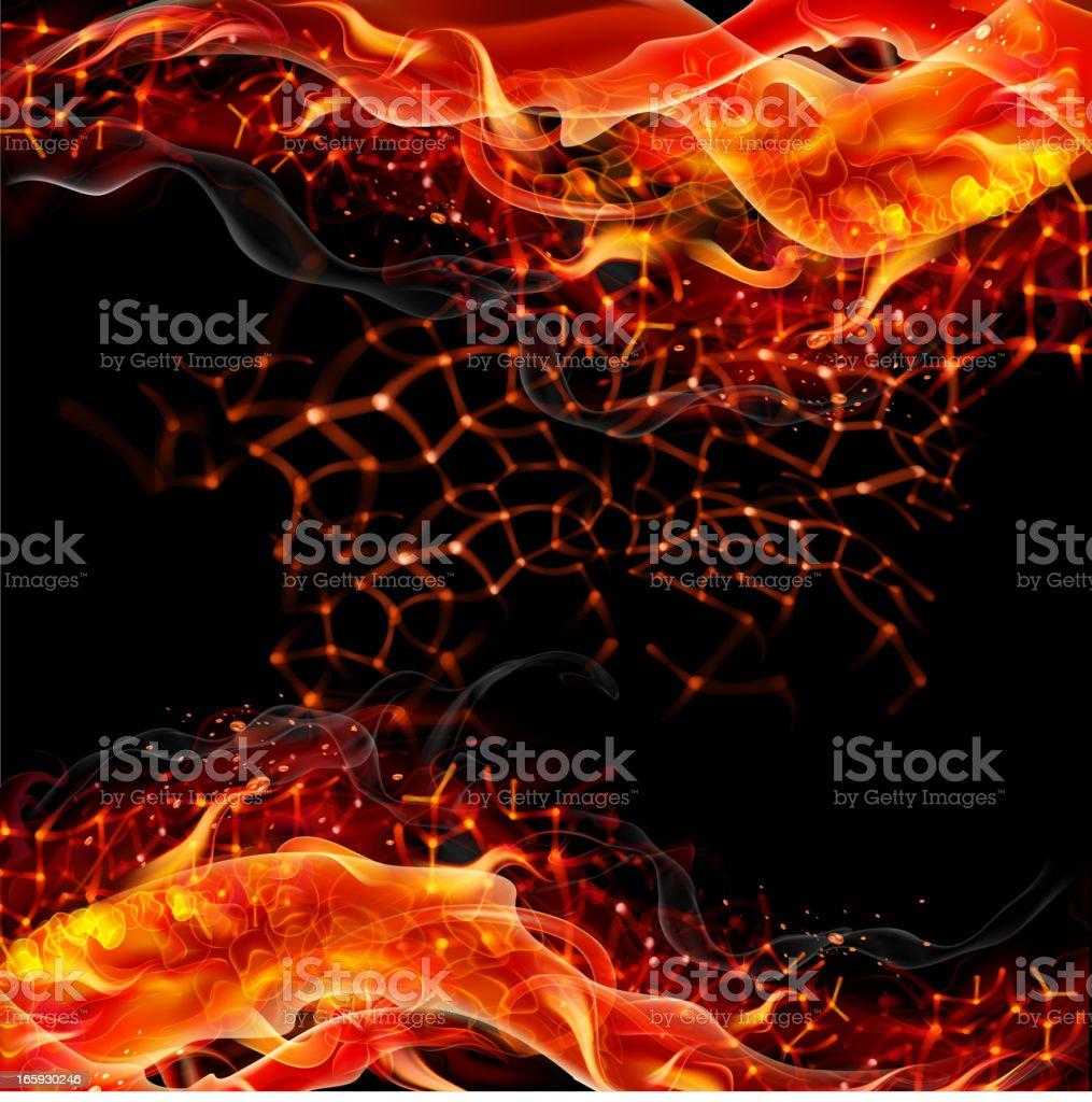Fiery vector background vector art illustration