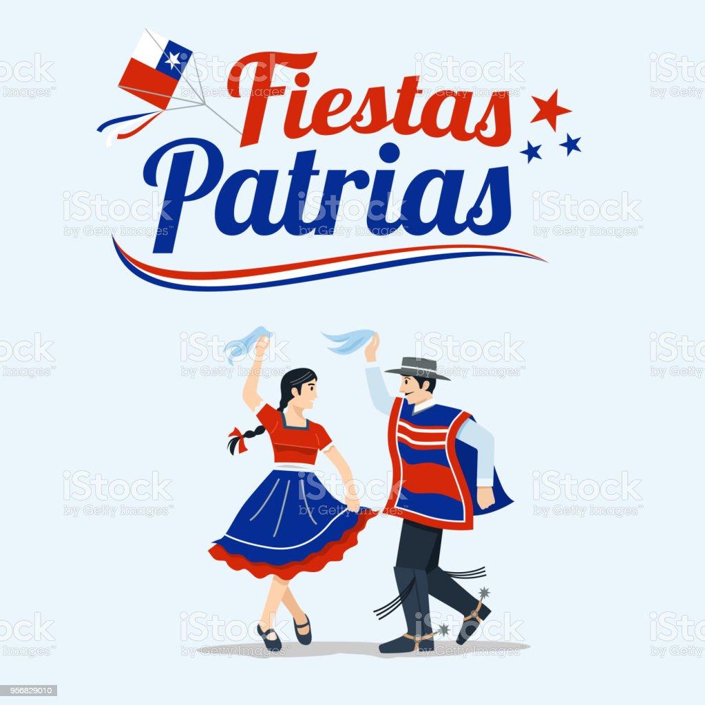 Ilustração De Fiestas Patrias Celebração Do Dia Da Independência Da
