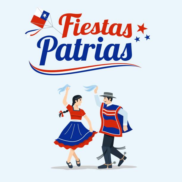fiestas patrias - şili i̇spanyol ifade bağımsızlık günü kutlamaları. - şili stock illustrations