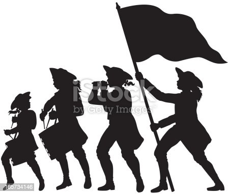 istock Fife, drums, and flag marching silhouettes 165734146