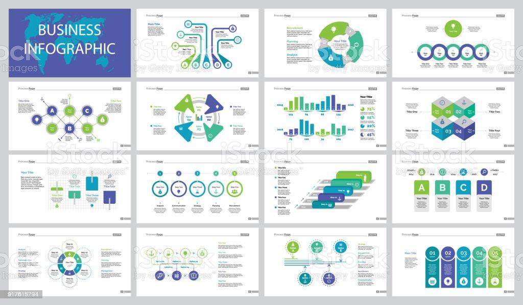 15 金融スライド テンプレート セット ベクターアートイラスト