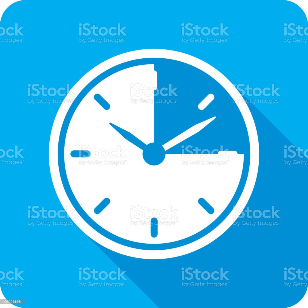 Fifteen Minutes Clock Icon Silhouette vector art illustration
