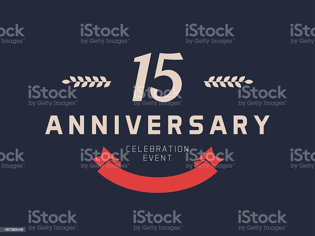 Fifteen Years Anniversary Celebration Logotype 15th Anniversary Logo