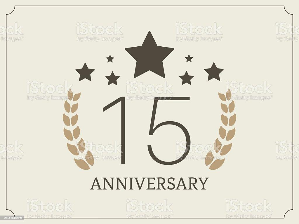 Logotipo Para 15 Anos: Ilustración De Quince Años Celebración De Aniversario