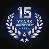 Fifteen years Anniversary emblem