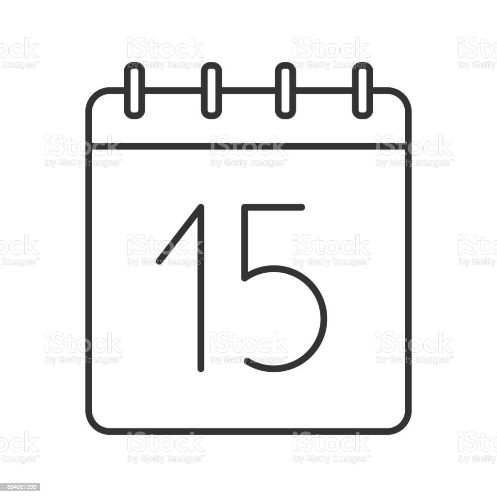 Fifteenth day of month icon royalty-free fifteenth day of month icon stock vector art & more images of calendar