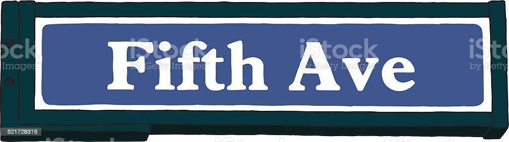 Fifth avenue señal - ilustración de arte vectorial