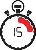 fifth teen minute stop watch countdown