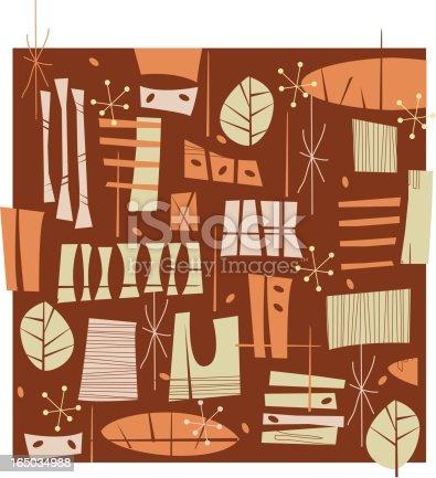 istock Fifties Retro Brown pattern 165034988