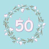 fifty anniversary greeting design