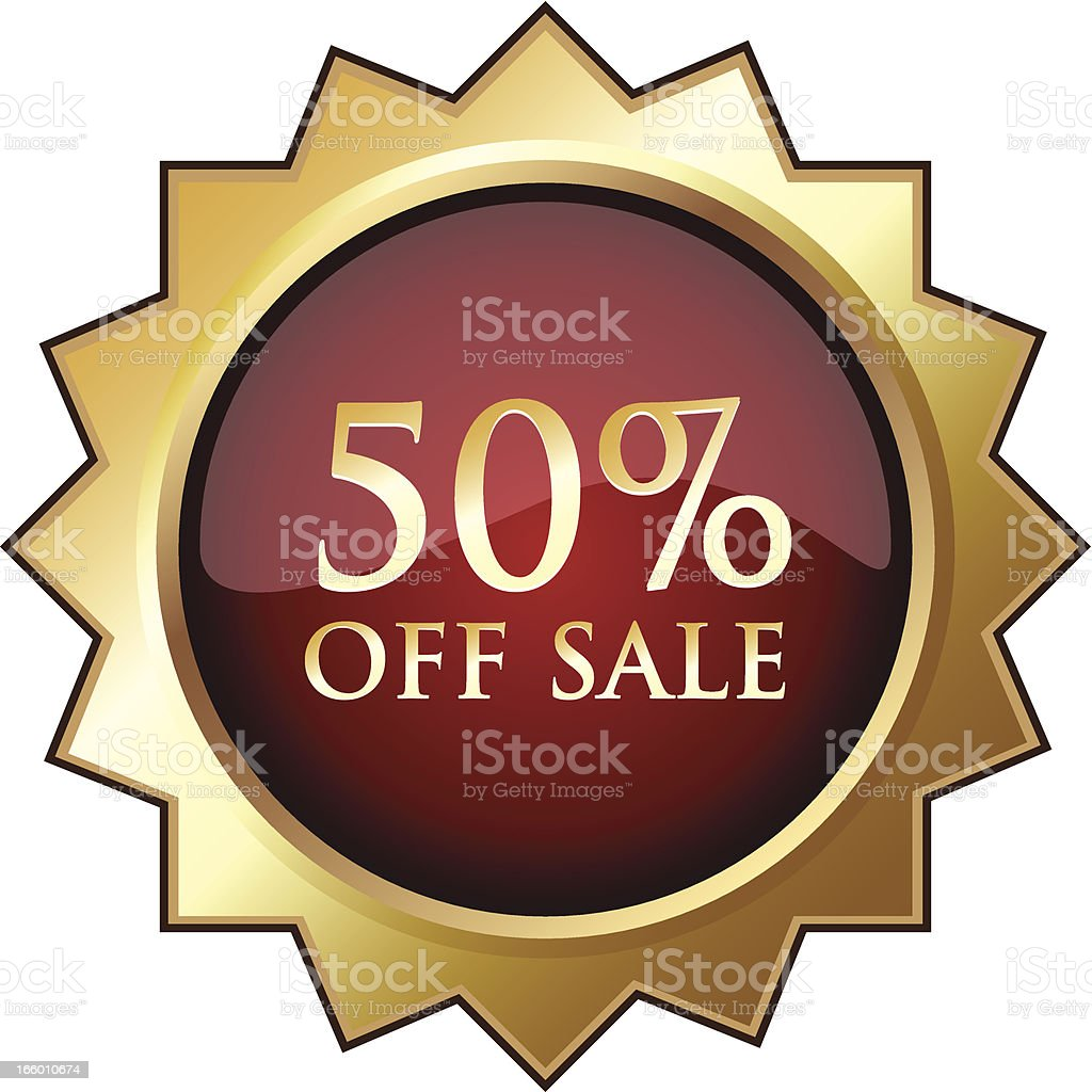 Fifty Percent Off Sale royalty-free fifty percent off sale stock vector art & more images of advertisement