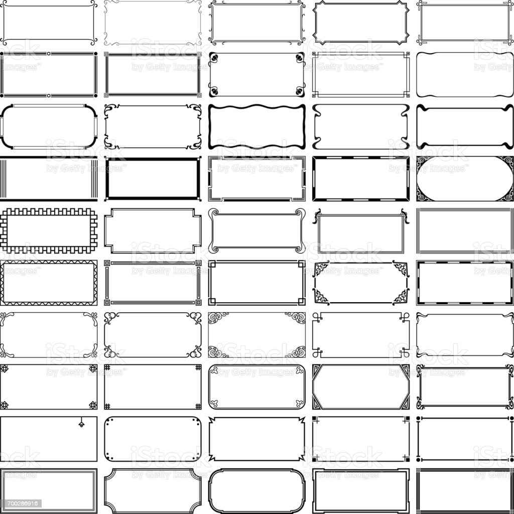 Cinquante cadres rectangle - Illustration vectorielle