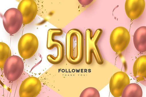 Fifty thousand followers banner.