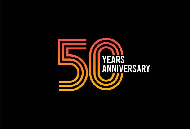 Fifty Year anniversary design vector art illustration