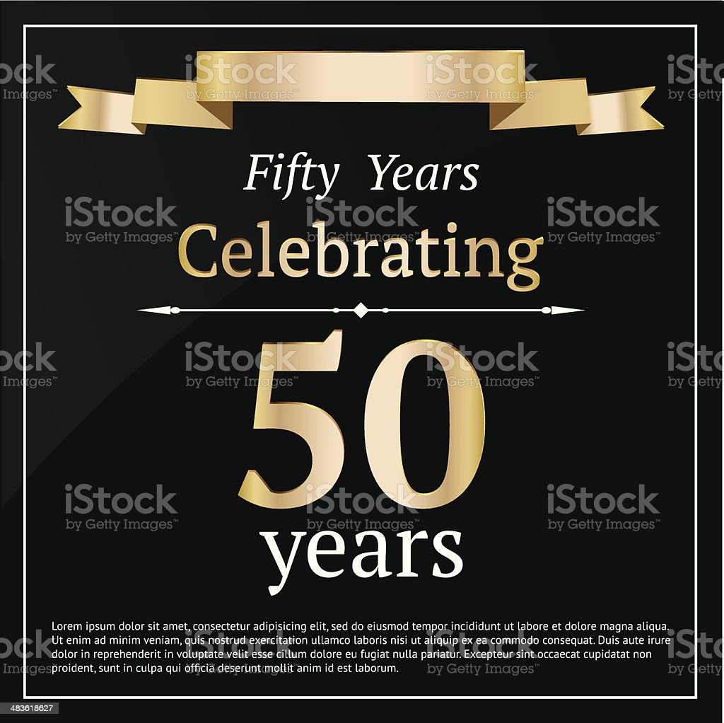 Fifty years anniversary card royalty-free stock vector art