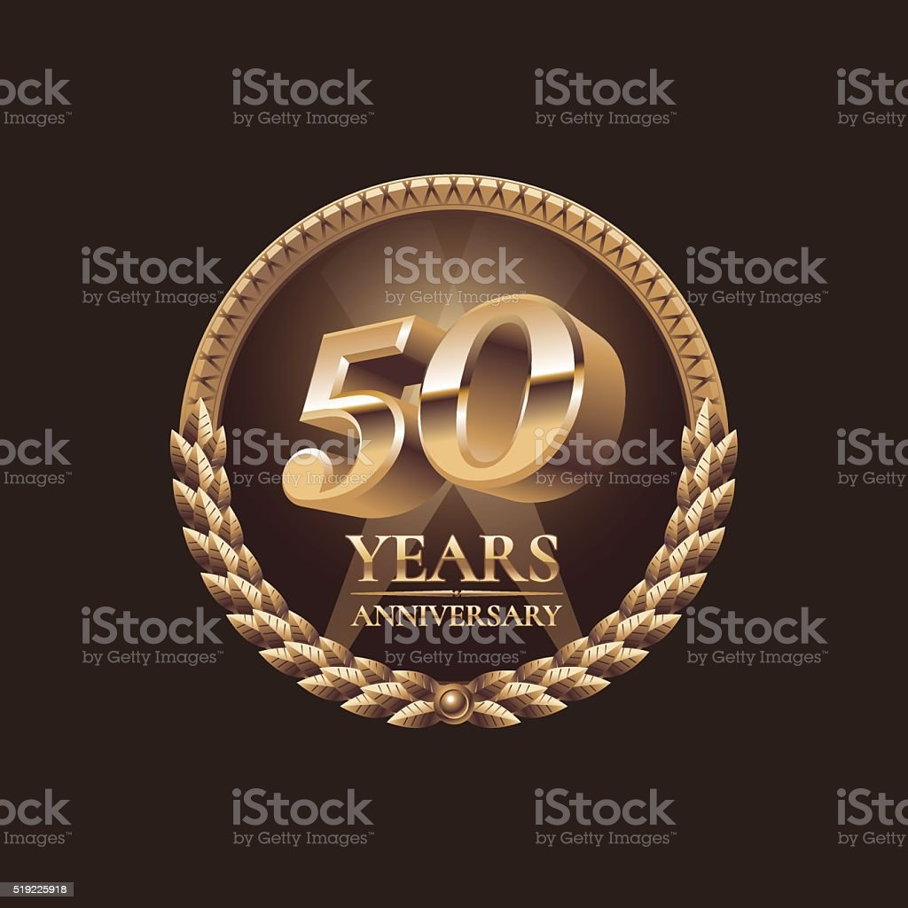 Fifty years anniversary celebration design vector art illustration