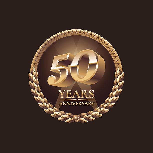 projeto de festa de aniversário de 50 anos - ilustração de arte em vetor