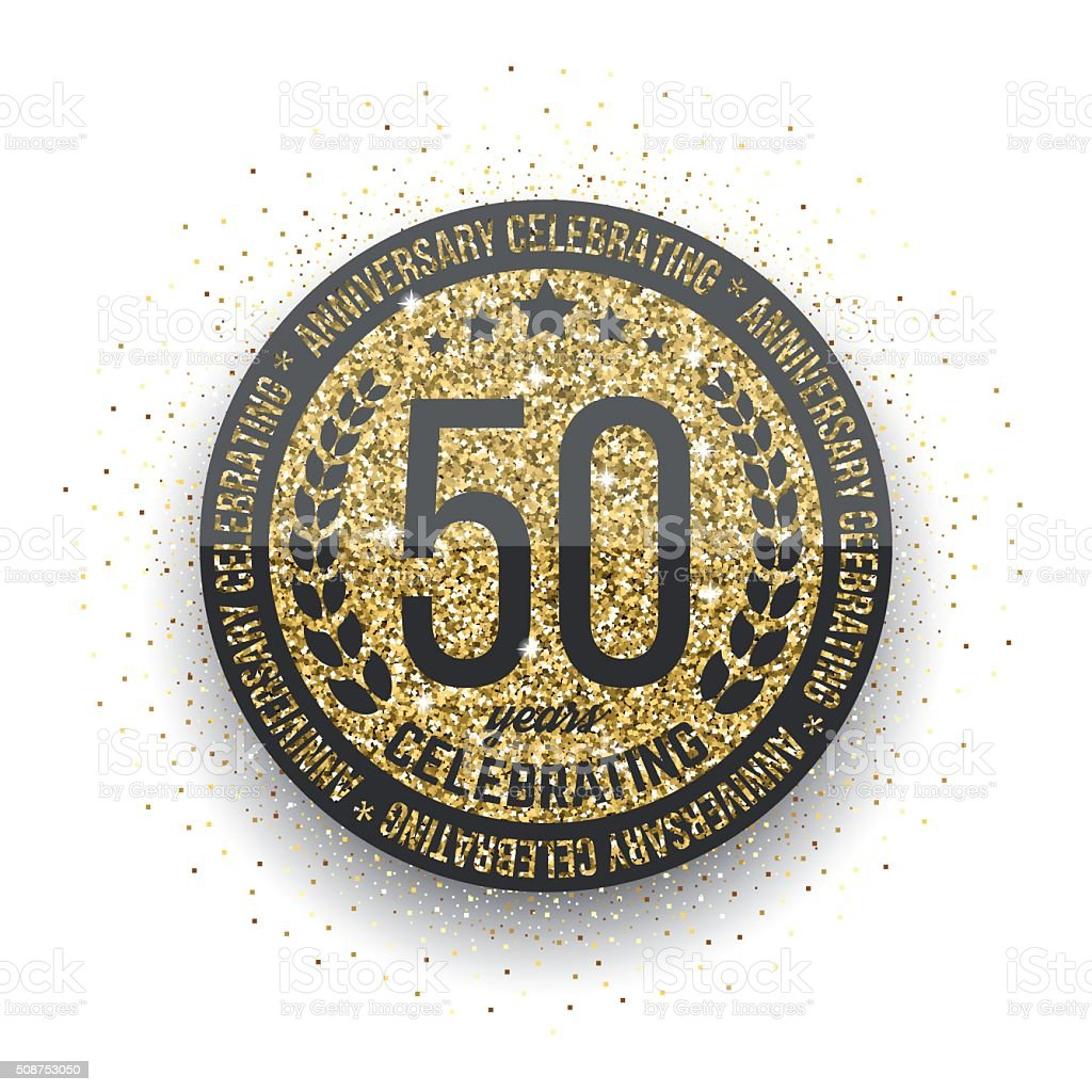 50 Ans Anniversaire Logotype 50 Eme Anniversaire Logo Dore