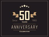 Fifty years anniversary celebration logotype. 50th anniversary logo.
