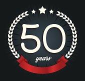 Fifty years anniversary logotype. 50th anniversary logo.