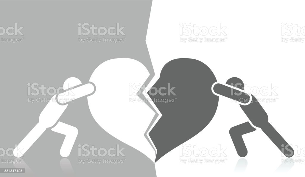 Fight Against Racism vector art illustration