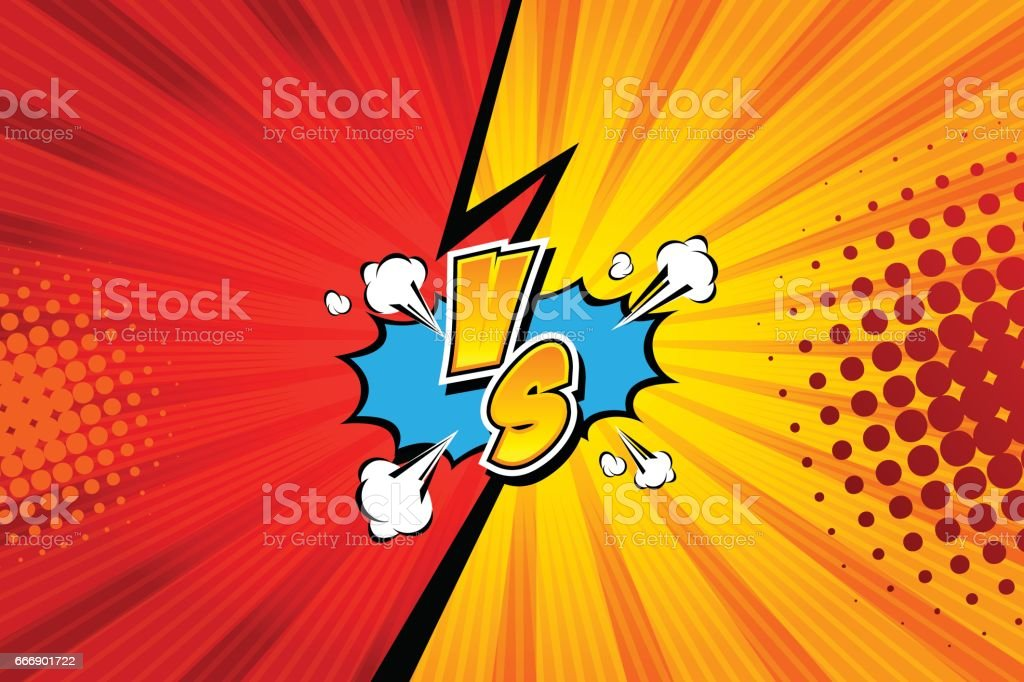Fight backgrounds comics style design. Vector illustration. vector art illustration