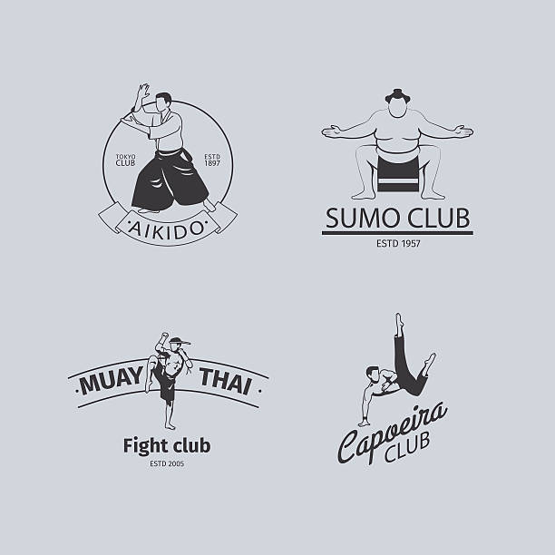 fight club-logo - sumo stock-grafiken, -clipart, -cartoons und -symbole