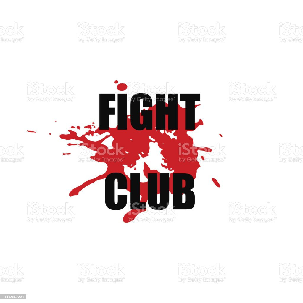 Fight Club Vector Stylized Font With Japanese Red Ink Stamp
