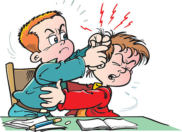 Royalty Free Kids Fighting Clip Art, Vector Images ...