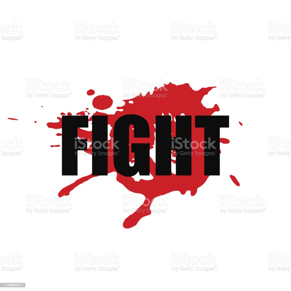 Fight Vector Stylized Font With Japanese Red Ink Stamp Hanko