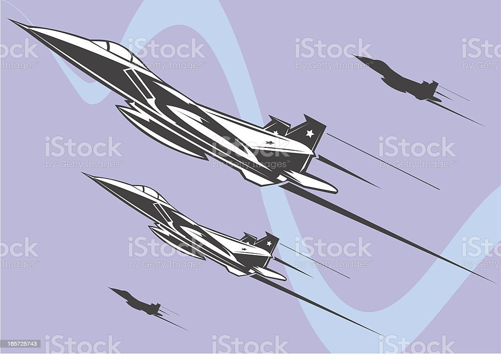 F-15 fighter jet on fly royalty-free f15 fighter jet on fly stock vector art & more images of air force