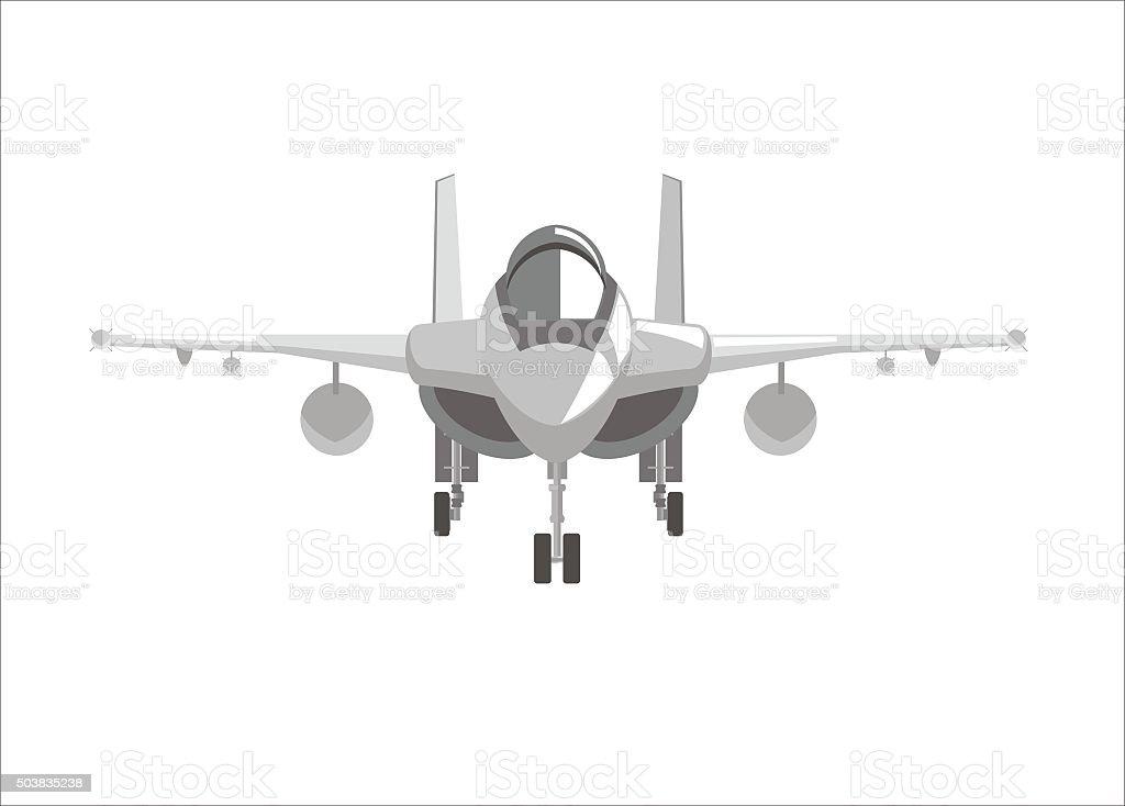 fighter jet plane simple illustration vector art illustration