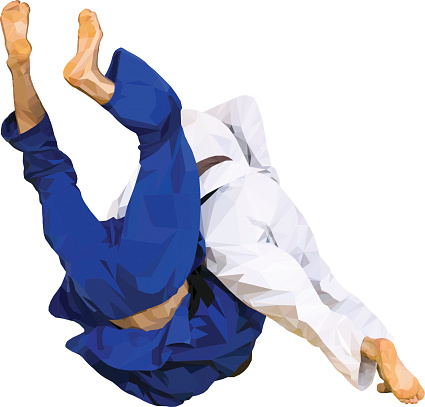 fighter judo throw for ippon
