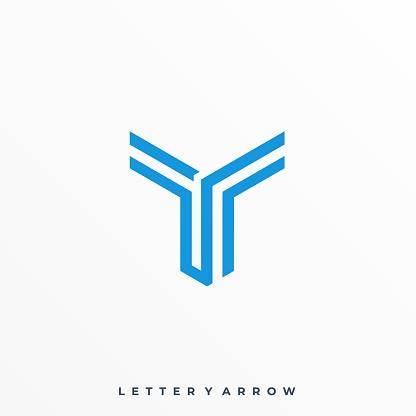 Fighter Letter Arrow Illustration Vector Template