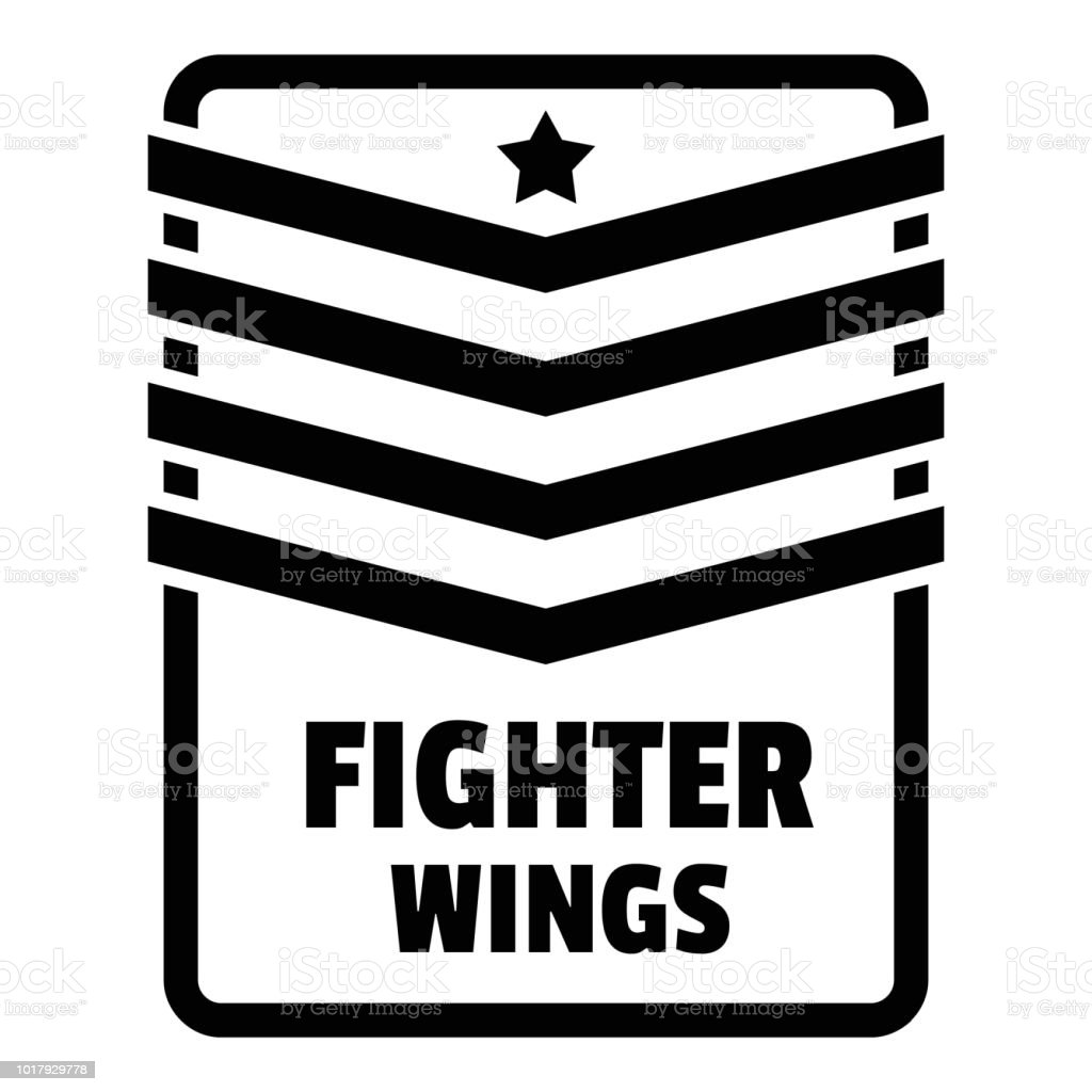 Fighter troop wings logo, simple style vector art illustration