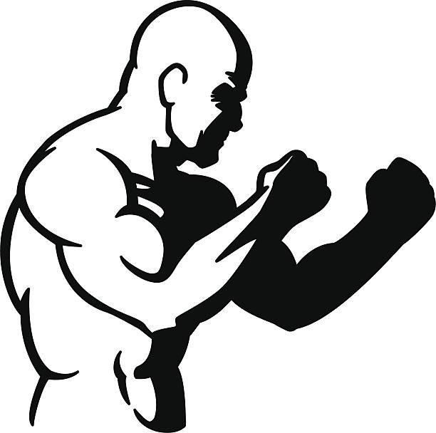 stockillustraties, clipart, cartoons en iconen met fighter - mma