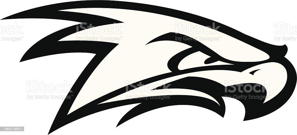 Fighting Hawk royalty-free stock vector art