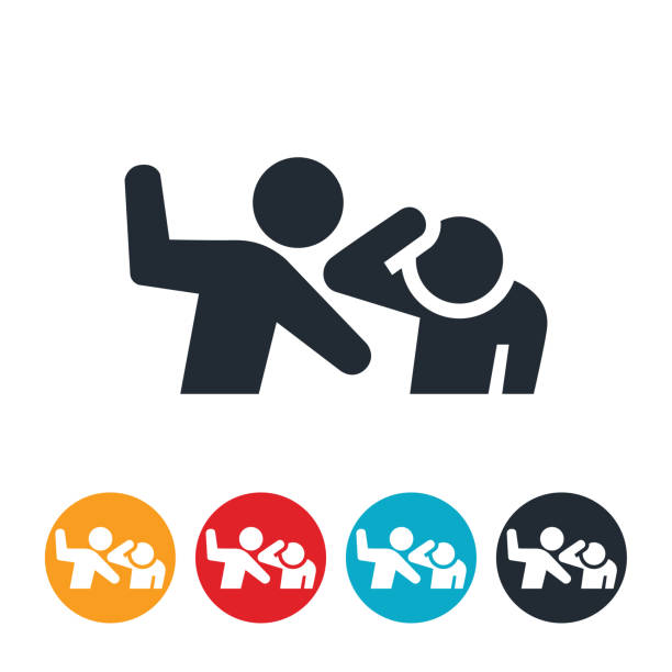 Fighting Icon vector art illustration