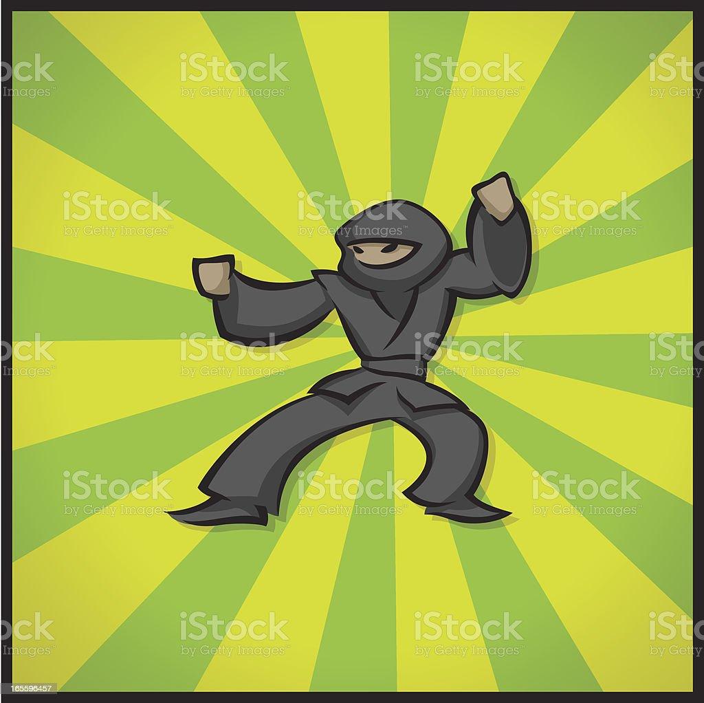 Lucha Ninja ilustración de lucha ninja y más banco de imágenes de actividad libre de derechos