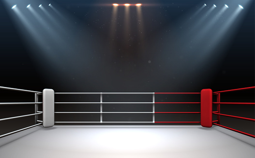 Fighting ring with light effect