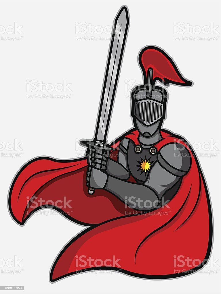 Fighting Stance Knight royalty-free stock vector art