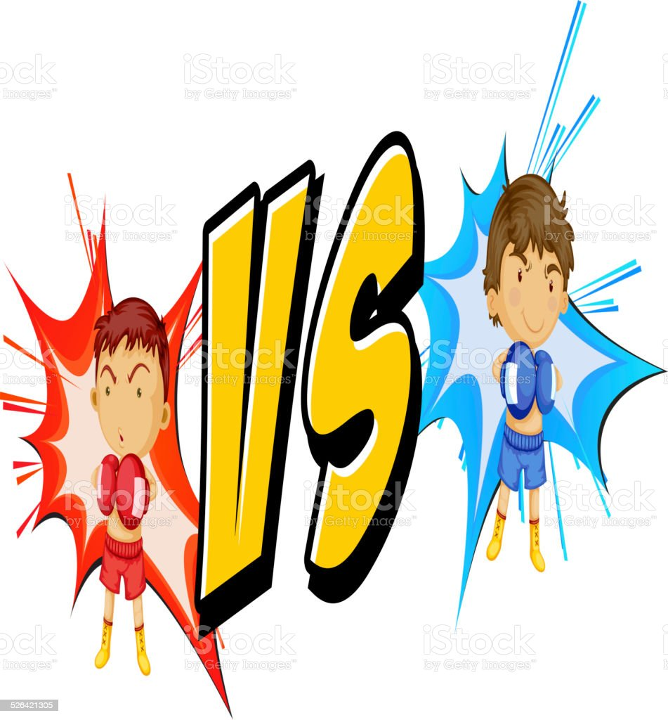 Fighting vector art illustration