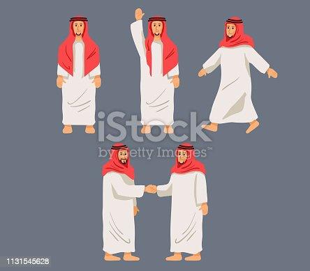 istock Figurative Character Arabian Men 1131545628
