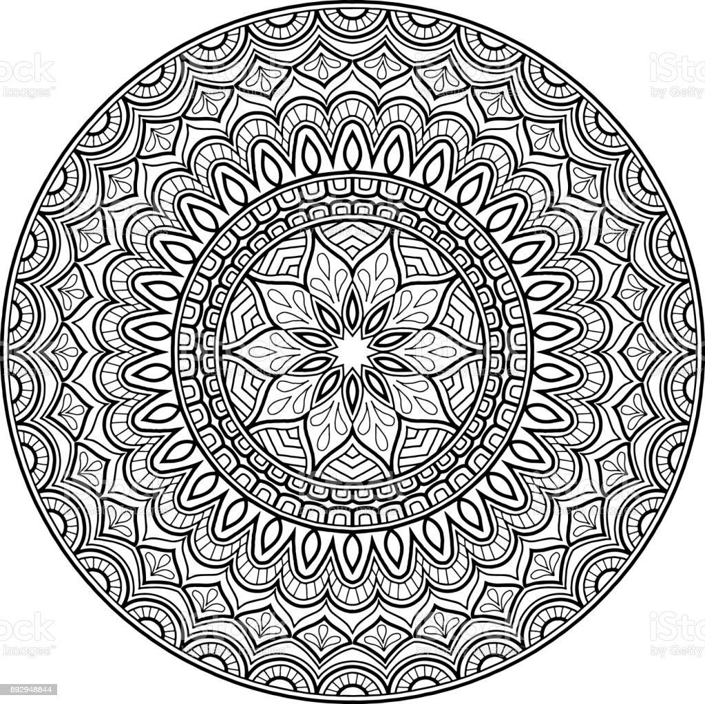 Ilustración de Figura Mandala Para Colorear De Buen Humor y más ...