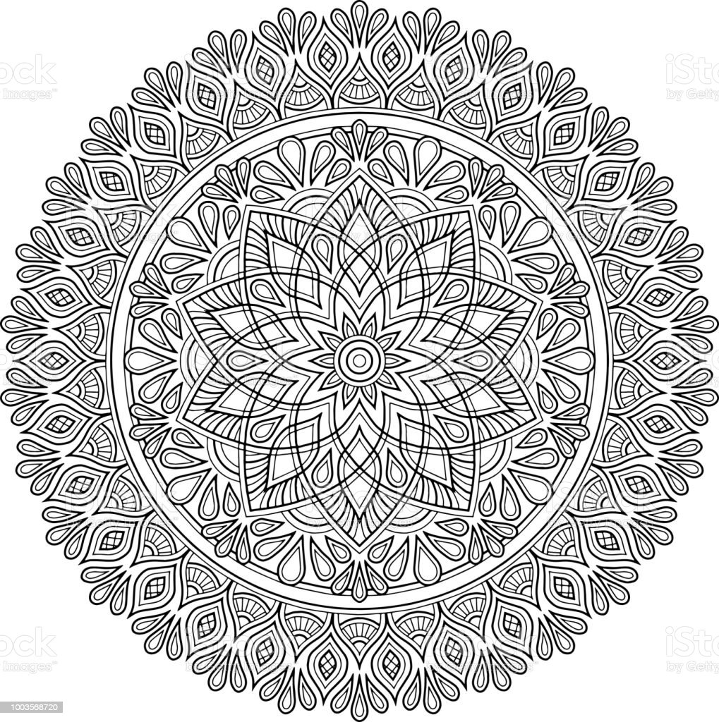 Figure Mandala For Coloring Stock Illustration Download Image