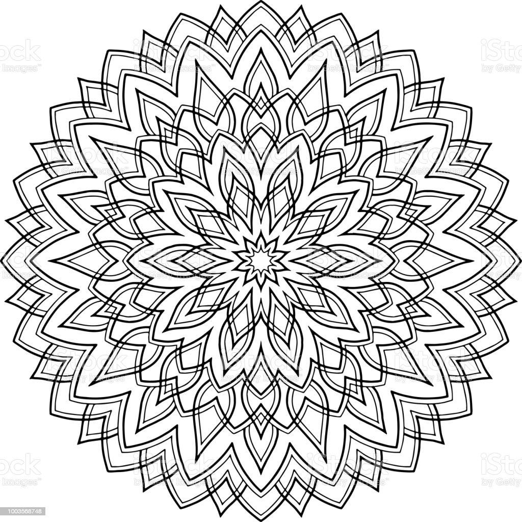 Abbildung Mandala Zum Ausmalen Stock Vektor Art und mehr Bilder von ...