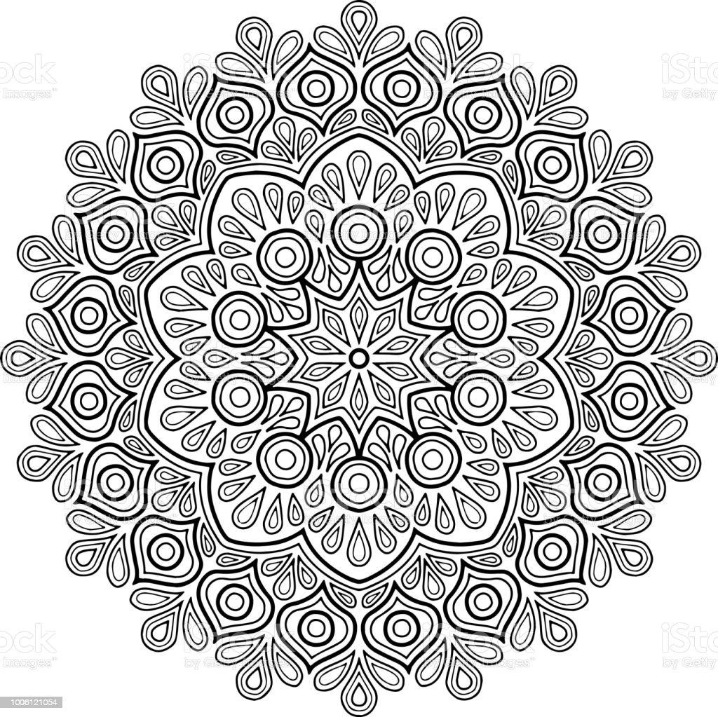 Figure Mandala For Coloring Stock Illustration Download Image