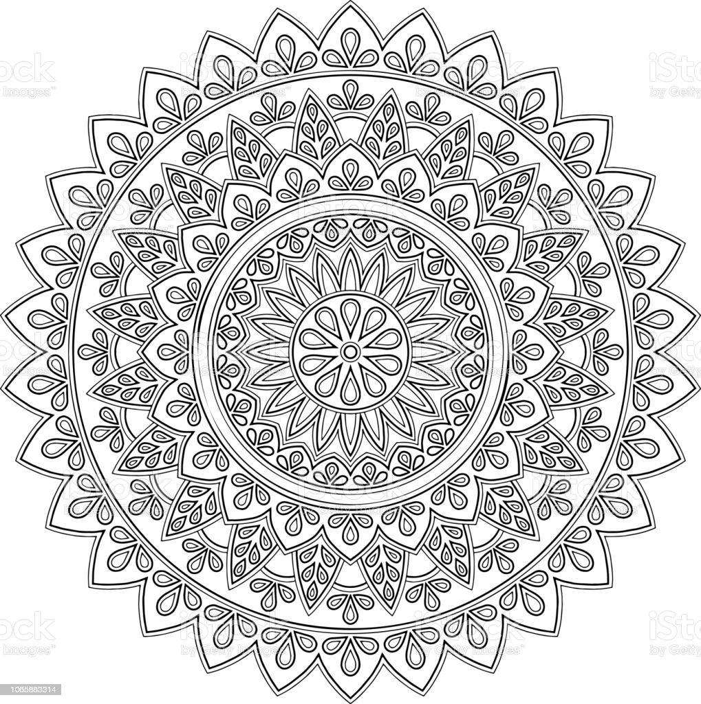 Sekil Mandala Boyama Stok Vektor Sanati Davetiye Nin Daha Fazla