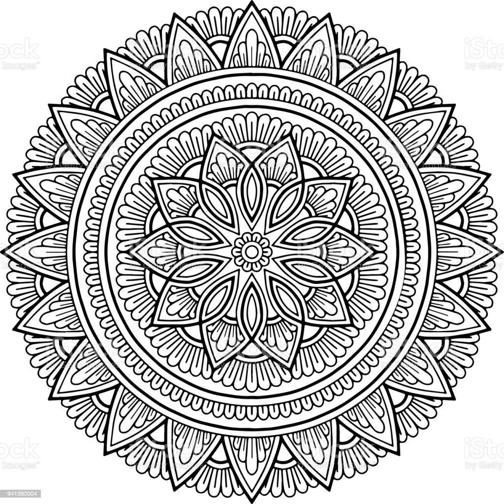Figure Mandala For Coloring Immagini Vettoriali Stock E Altre